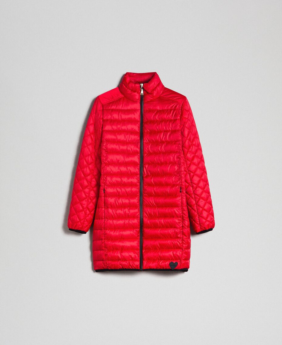 Long ultra light puffer jacket Poppy Red Woman 192MP2101-0S