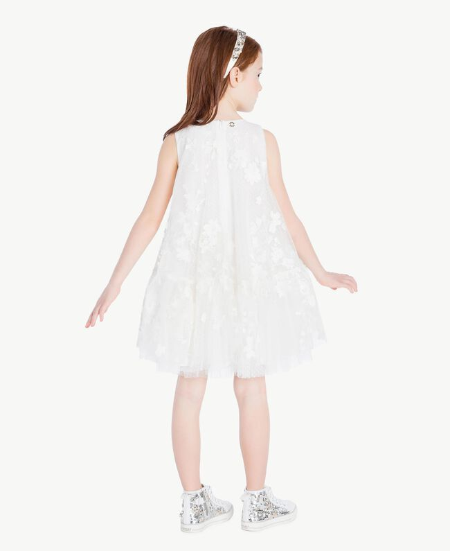 "Robe tulle Blanc ""Papers"" Enfant GS8LCA-04"