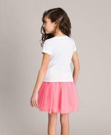T-shirt en coton avec strass multicolores Blanc Enfant 191GJ2770-03