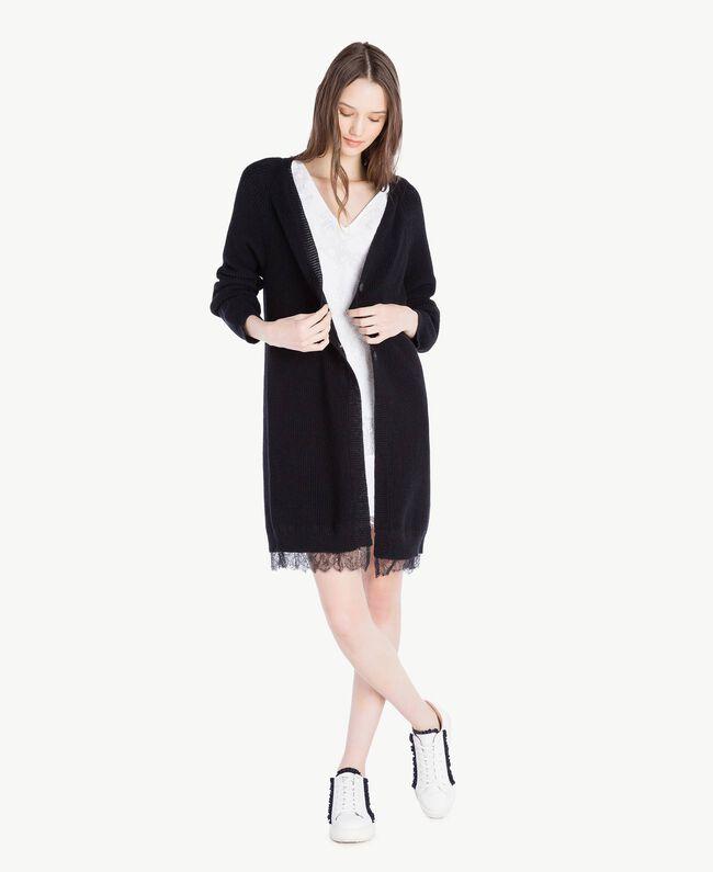Kleid mit Spitze Weiß Frau SS82J4-05