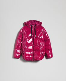 Short quilted puffer jacket with real down Beet Red Woman 192TP2500-0S