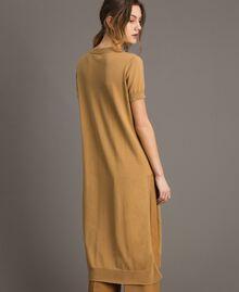 "Robe longue avec fentes Beige ""Savane"" Femme 191ST3012-03"
