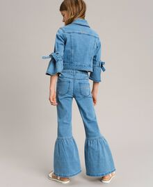 Bell-Bottom-Jeans Hellblauer Denim Kind 191GJ2590-03