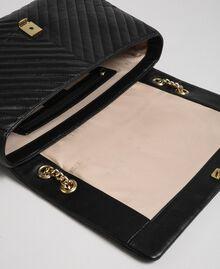 Grand sac à bandoulière en cuir matelassé Noir Femme 192TA7101-05
