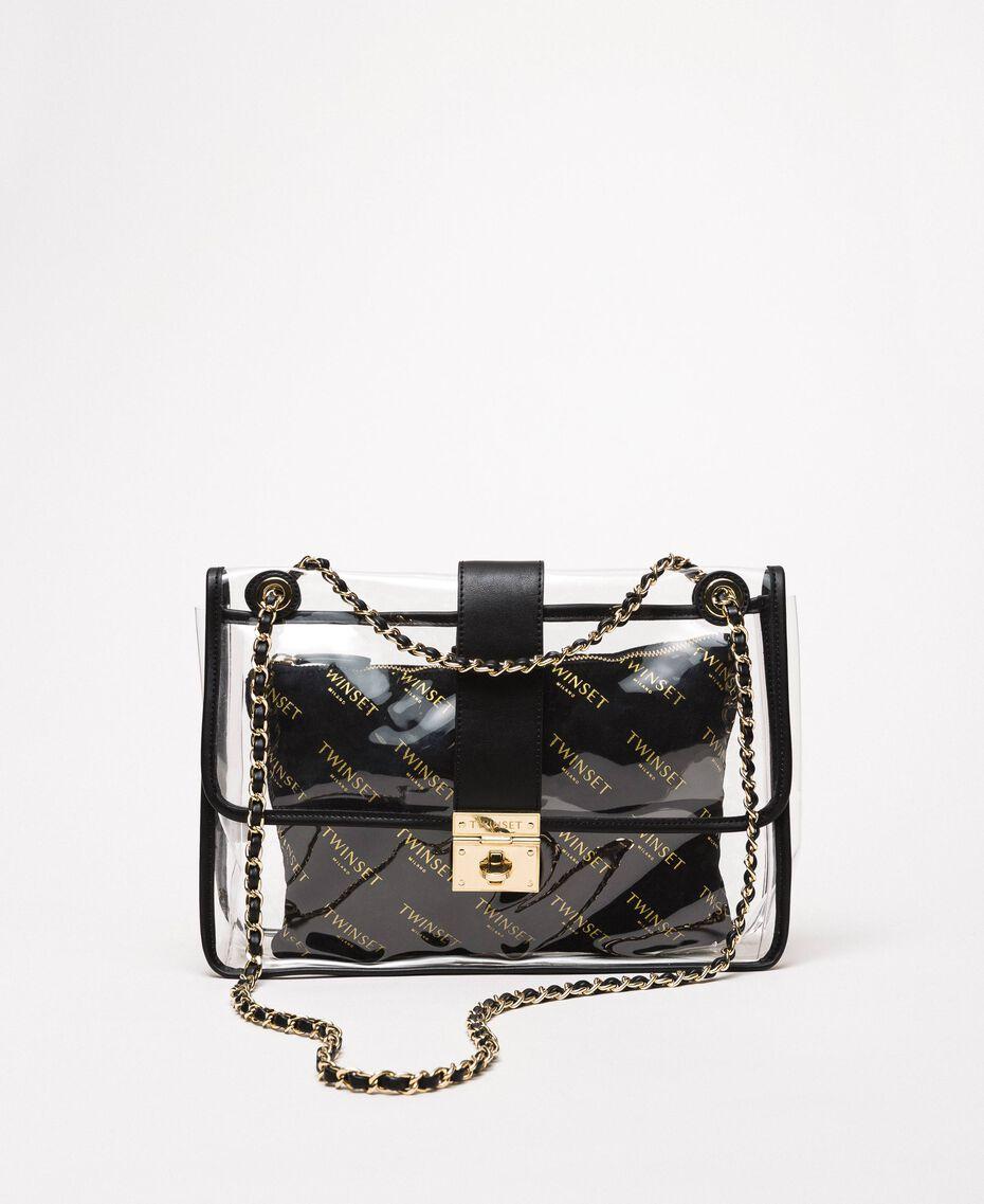 Grand sac à bandoulière avec pochette Blanc Femme 201TA7181-01
