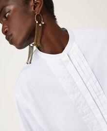 Camicia in popeline con pieghe Bianco Donna 211TT245C-05
