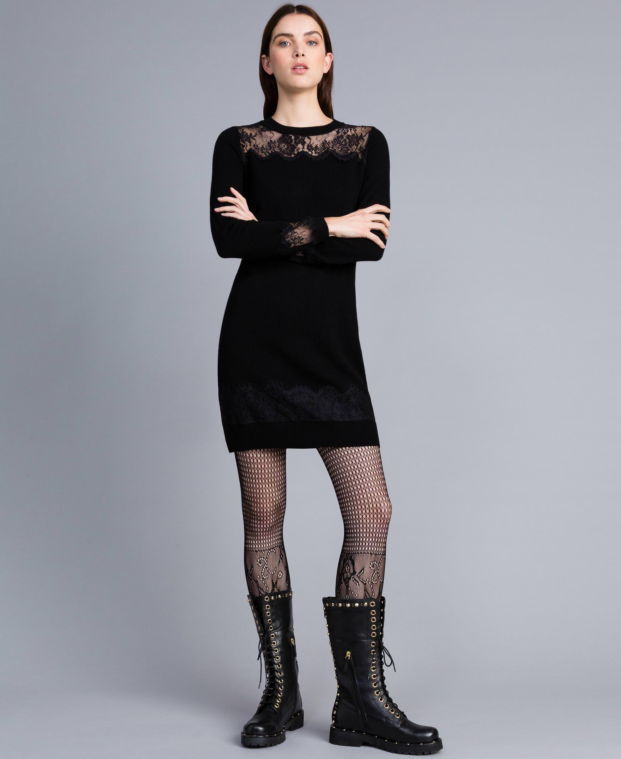 Kleid wolle schwarz