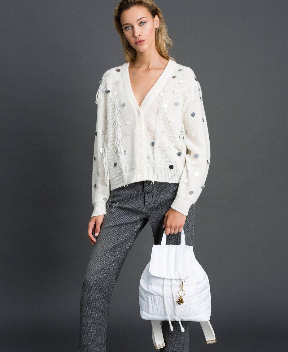 Sac à dos matelassé avec charms et logo Blanc Neige Femme 192TO8062-0S