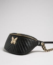 Quilted leather belt bag with butterfly Black Woman 192TA7104-01