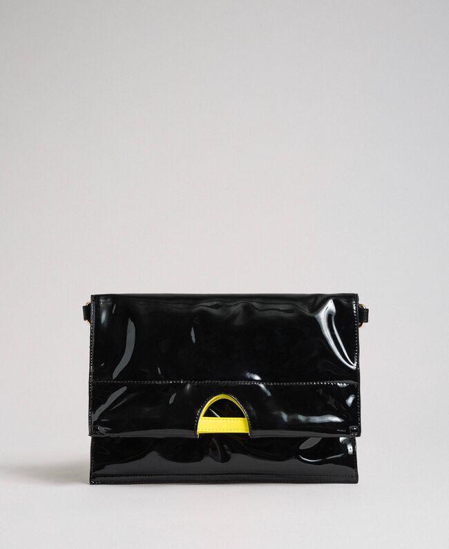 Маленькая складная сумка-шоппер из искусственной кожи Пыльный Розовый женщина 192TA7174-04