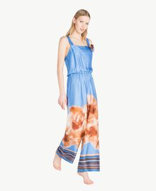"Printed jumpsuit ""Lagoon"" Blue Mix Print Woman MS8NJJ-03"