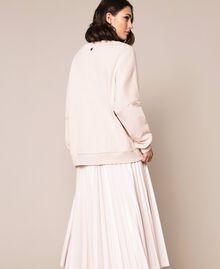 Длинная толстовка с рельефным логотипом Розовый Бутон женщина 201TP2083-03