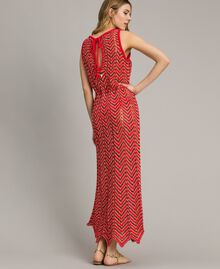 "Robe en maille de lurex Rouge ""Framboise"" Femme 191LM3KBB-03"