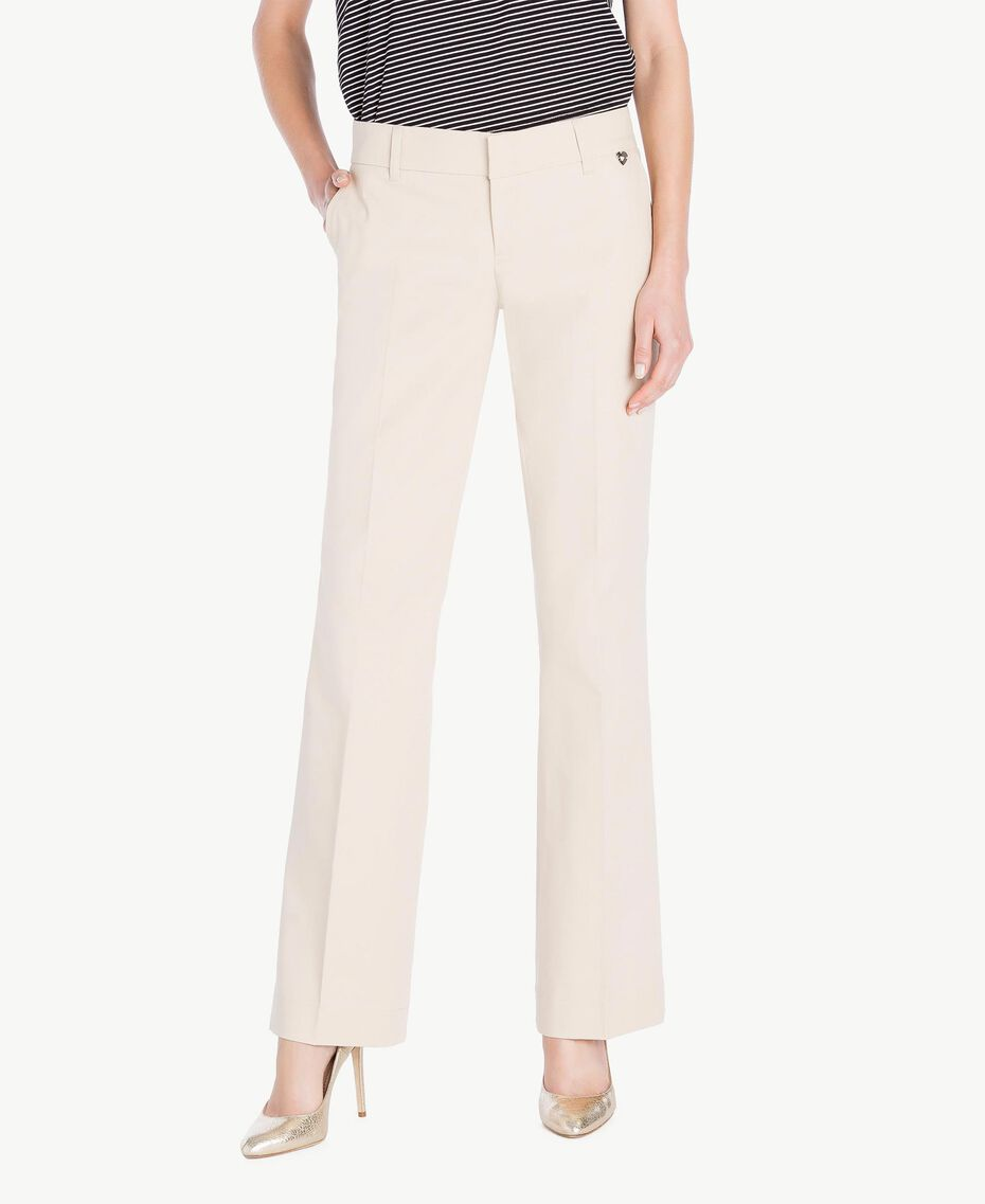 Pantalone canvas Ecrù Donna PS824S-01