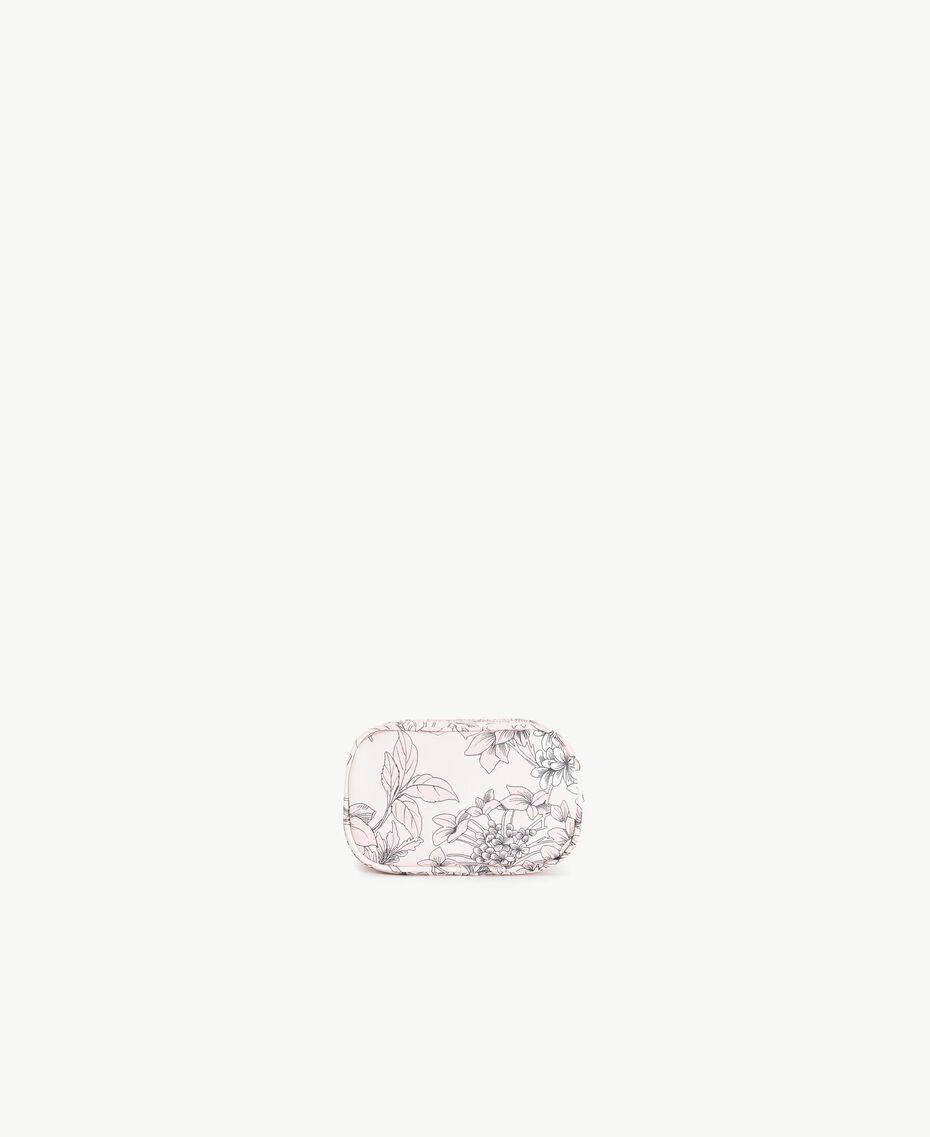 "Beautycase mit Print Makroblumenprint ""Pinkie Sugar"" Frau LS8DCC-03"