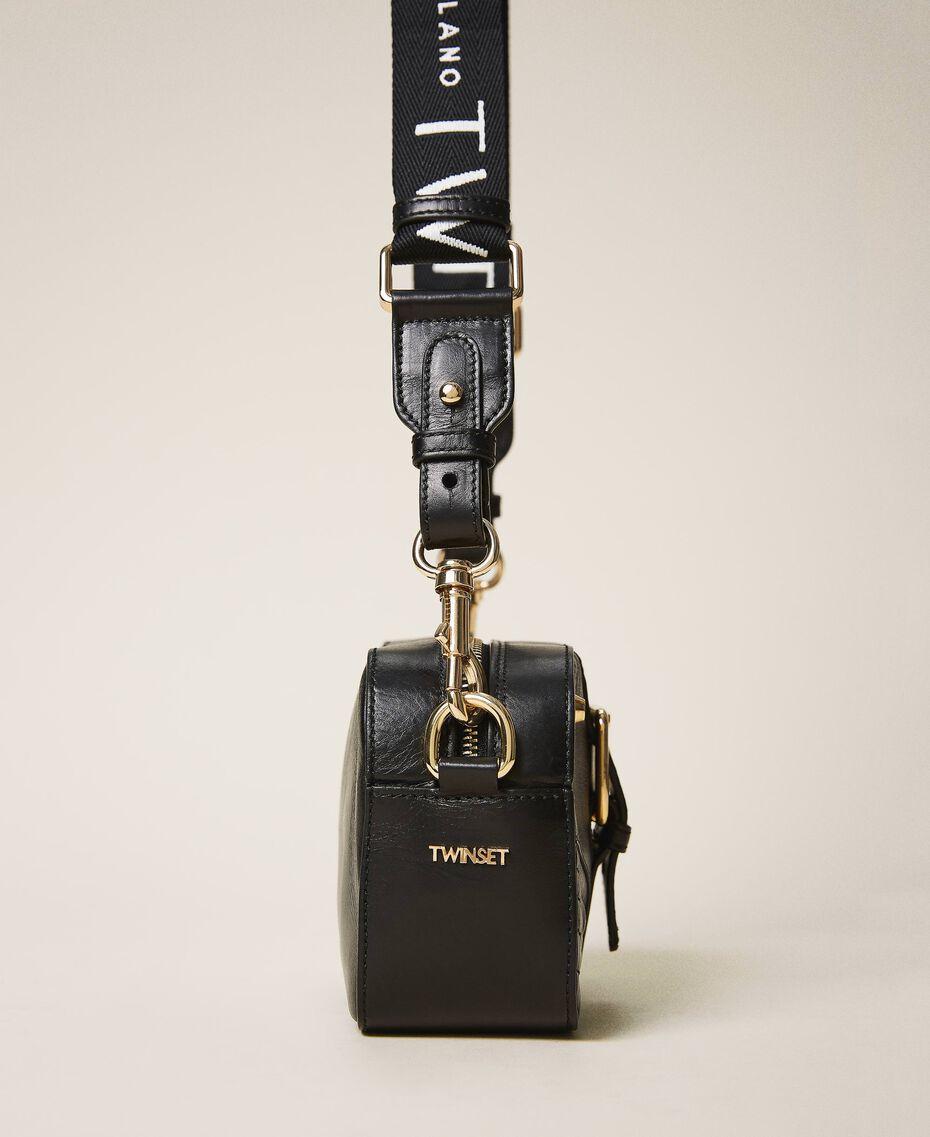Small Rebel shoulder camera bag Leather Brown Woman 202TB723R-02