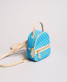 Butterfly print mini backpack Mikonos Light Blue Butterflies Print Woman 191TA7176-01