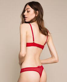 Push-up in pizzo Rosso Melograno Donna 201LL6244-03