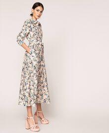 Robe chemisier longue florale Imprimé Floral Rose «Quartz» Femme 201MP2371-02
