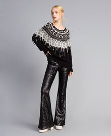 Sequined trousers Black Woman QA8TEF-02