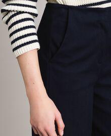 Cotton cropped trousers Deep Blue Woman 191TP2230-03
