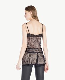 Top pizzo Nero Donna PS821H-03