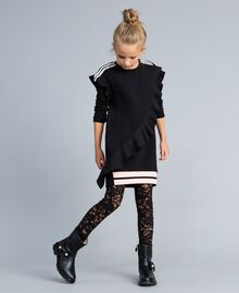 Кожаные сапожки с жемчужинами Черный Pебенок HA88AJ-0T