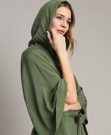 "Cape avec capuche Vert ""Cactus"" Femme 191MT2311-05"