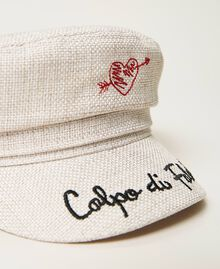 Canvas cap with visor Beige Cremino Woman 211LM4ZSS-02