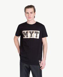 T-Shirt mit Logo Schwarz Mann US8226-01