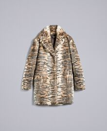 Printed rabbit coat Tiger Print Woman TA82AN-0S