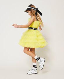 "Tulle dress with belt ""Sunny Lemon"" Yellow Child 211GJ2Q8B-02"