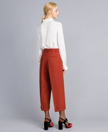 Pantaloni cropped in lana bistretch Bruciato Donna TA8271-04