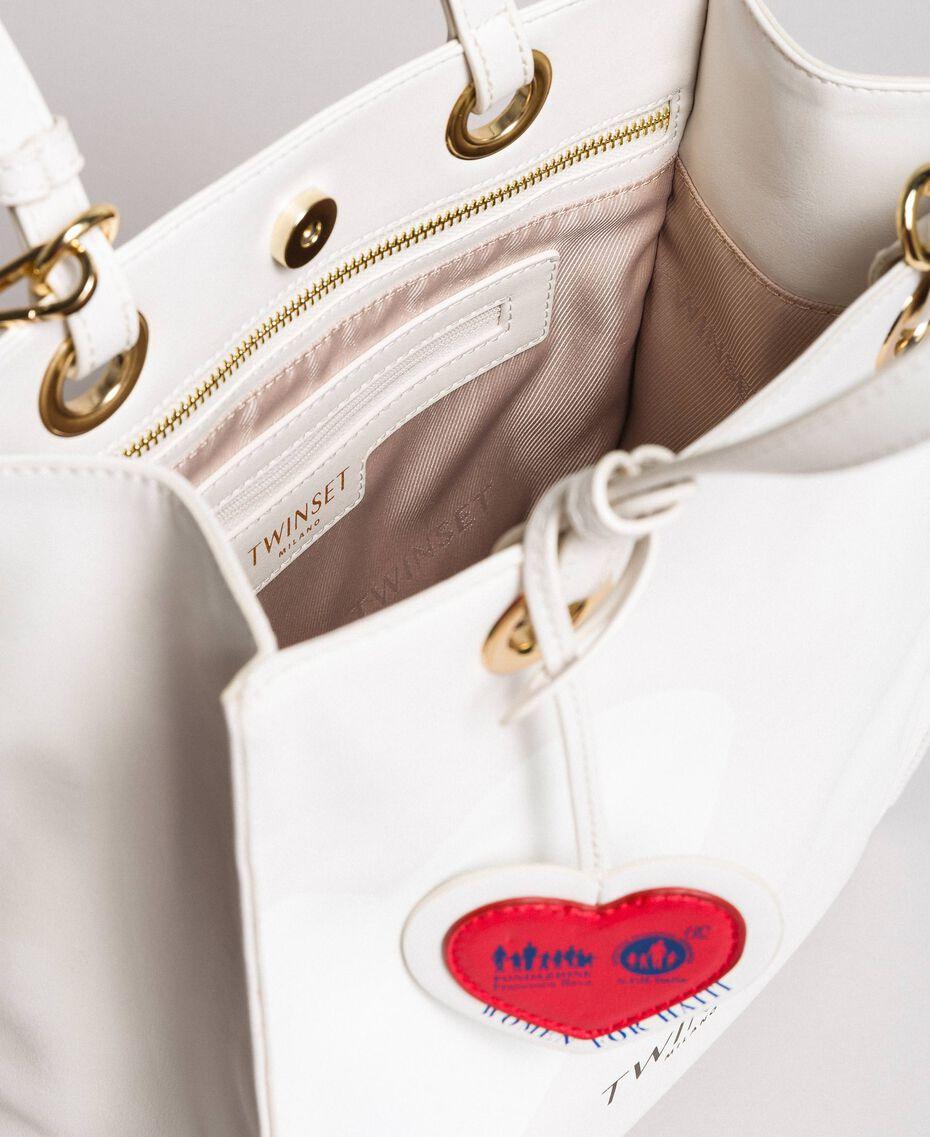 Mon Coeur Tote-Bag aus Lederimitat Weiß Vanille Frau 191TQ701A-05