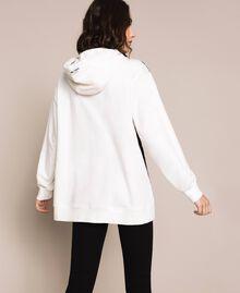 Maxi sweat-shirt avec dentelle Bicolore Lis/ Noir Femme 201MP2141-03