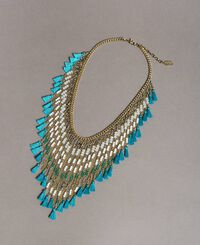 Necklace with beaded fringes
