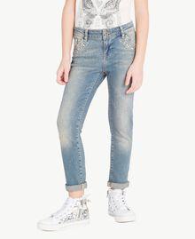 "Skinny-Jeans Mittleres ""Denimblau"" Kind GS82T3-02"