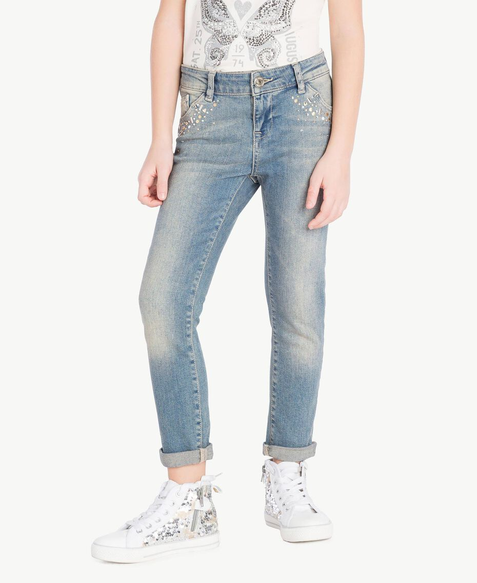 "Skinny jeans ""Mid Denim"" Blue Child GS82T3-02"