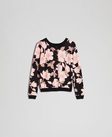 Cardigan-pull avec imprimé floral Imprimé Fleur Noir Femme 192LL3KRR-0S