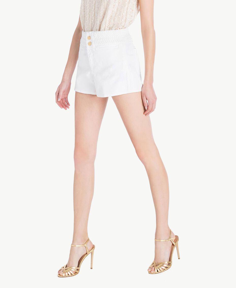 Short coton Blanc Femme TS82GC-02