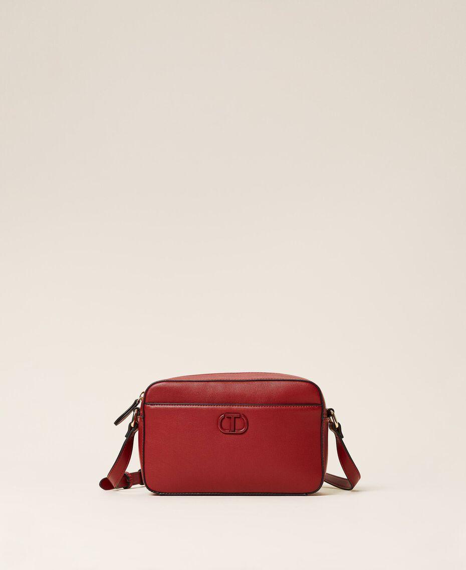 "Shoulder bag with pocket ""Geranium"" Red Woman 212TB7067-02"