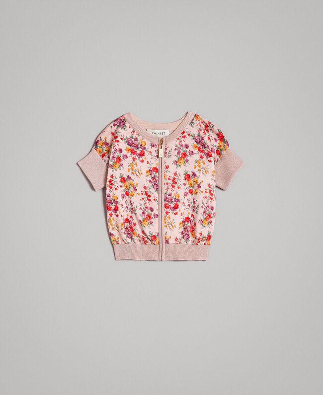 Cardigan à fleurs en tricot de lurex Imprimé Mini-Fleurs Enfant 191GB3050-01