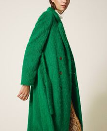 Manteau long en drap brossé Python Femme 202TP2601-03