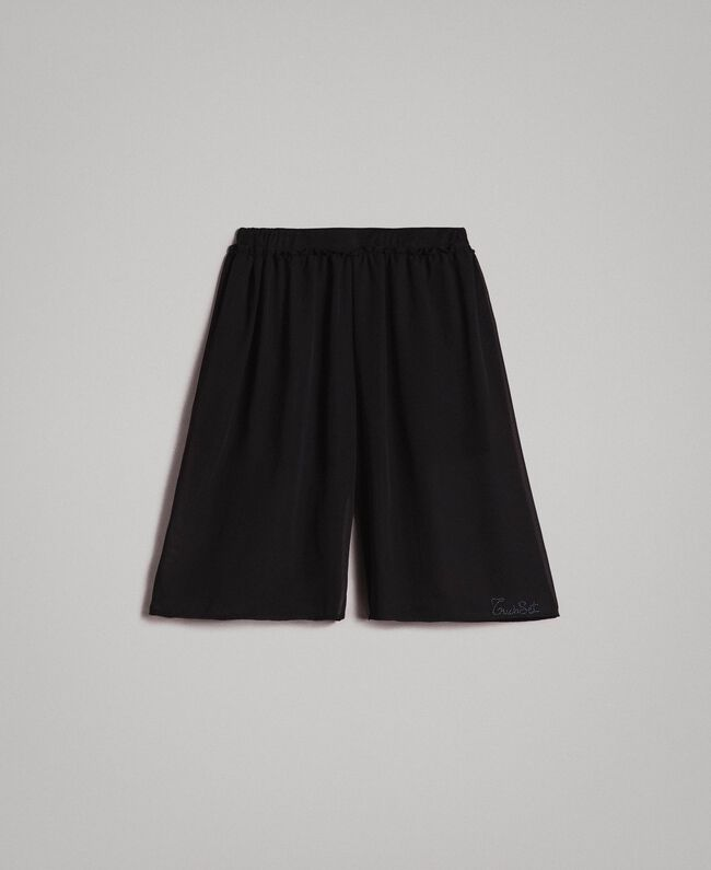 Georgette cropped trousers Black Child 191GJ2091-01