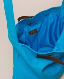 """Canvas shopper with shoulder strap """"Bay"""" Blue Woman 201LM7ZKK-04"""