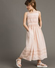 Long dress with embroideries Blossom Pink Child 191GJ2353-02