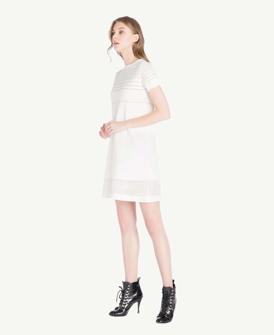 Viscose dress Light Ivory Woman PS8362-02