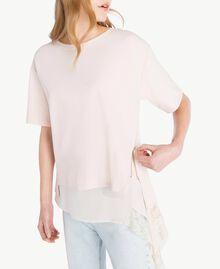 Lace blouse Pale Ecru Woman PS828Q-04