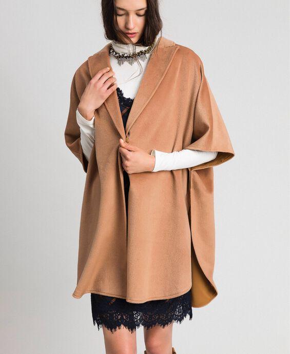 Velour wool cape