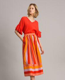 Blusa in misto seta Rosso Granatina Donna 191TT2075-0T